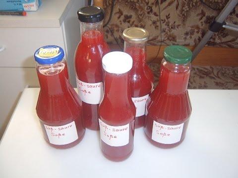 Сладко-кислый соус из красной смородины