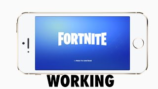 Fortnite WORKING on iPhone 6, iPhone 5s, IPhone 5 and iPod touch. HOW TO PLAY on 1GB RAM