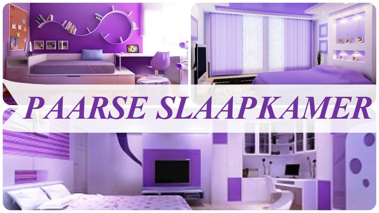 paarse slaapkamer, Meubels Ideeën