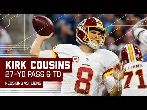Krik Cousins Hits Vernon Davis for Huge Gain & Finds Robert Kelly for TD! | Redskins vs. Lions | NFL