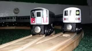My Munipals Wooden Train Layout