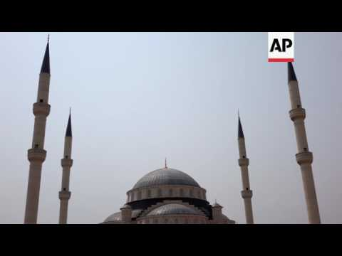 Largest mosque in west Africa almost complete