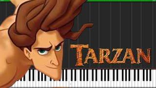 You'll Be In My Heart - Tarzan [Piano Tutorial] (Synthesia) // Popular Piano Improv