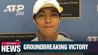 S. Korean tennis player becomes 1st deaf player to win on ATP Tour