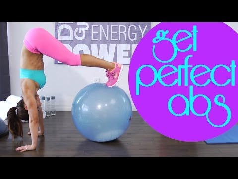 Best Ab and Core Workout Using a Stability Ball | Natalie Jill
