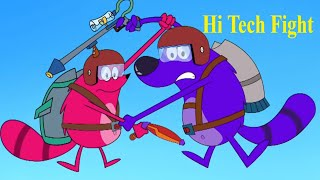 Hi Tech Fight Ep - 56 - Pyaar Mohabbat Happy Lucky - Hindi Animated Cartoon Show - Zee Kids