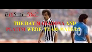 The day MARADONA, PLATINI, LINËKER were teammates at Wembley - FOOTBALL LEAGUE vs REST OF THE WORLD