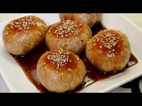 No Talk cooking 5 : Meat Wrapping Rice Ball (Nikumaki Onigiri) 肉巻き梅握り