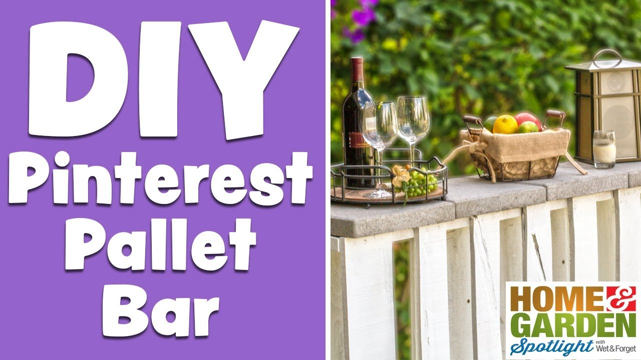 how to build a pallet bar youtube