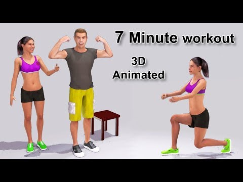 Scientific 7 Minute HIIT workout – 3D animated exercises to lose weight and tone your body