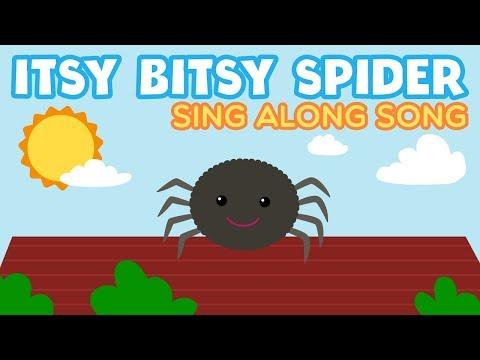Itsy Bitsy Spider Incy Wincy Baby Song Nursery Rhymes KARAOKE SING A LONG