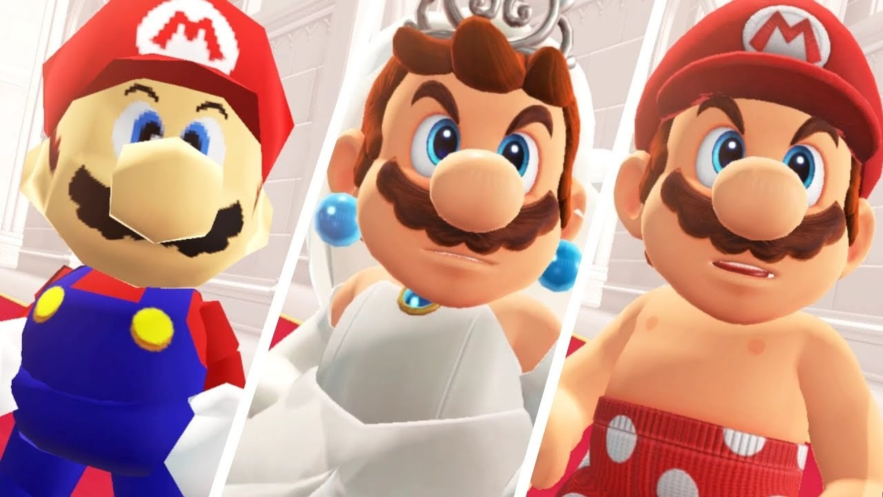 Super Mario Odyssey All Bowser Reactions To Mario S Costumes