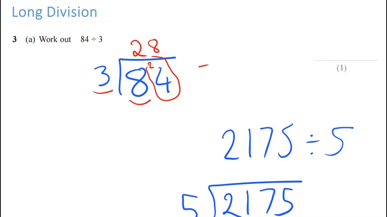 New Spec Gcse Maths: Long Division