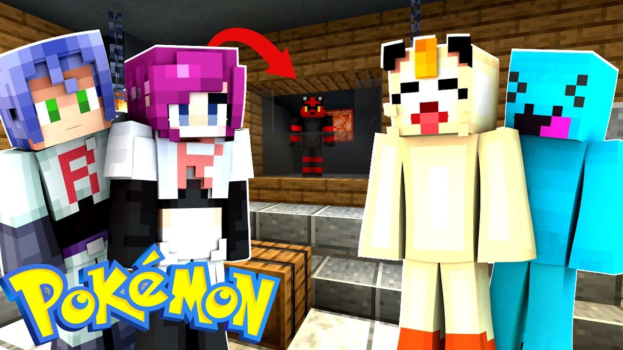 Minecraft Pokemon - TEAM ROCKET IS AFTER ASH AND PIKACHU ...