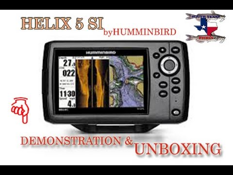 helix 5 si fishfinder-gps-chartplotter by humminbird unboxing, Fish Finder