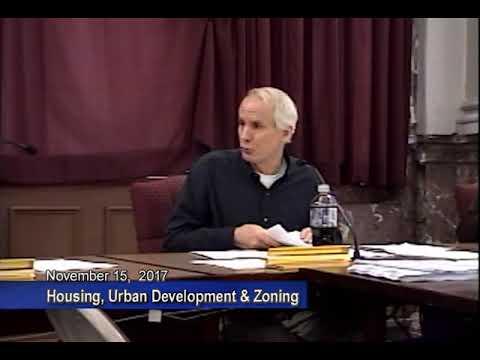 Housing, Urban Development and Zoning - November 15, 2017
