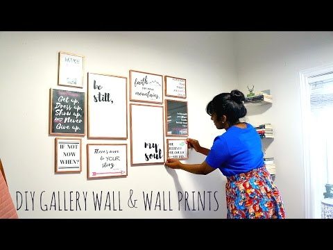 DIY|| Affordable Gallery Wall & Make Your Own Wall Prints