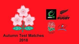 Test Match - Japan Squad For Autumn 2018 (Slideshow)