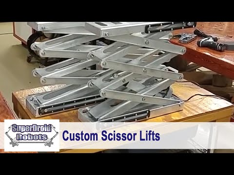 Customized Electric Scissor Lifts By SuperDroid Robots