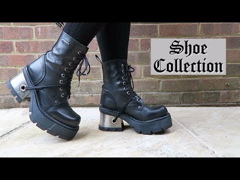 GOTHIC SHOE COLLECTION - New Rock, Goth Pikes, Converse