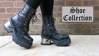 GOTHIC SHOE COLLECTION - New Rock, Goth Pikes, Converse Video