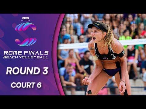 Women's Round 3 | Court 6 | Beach Volleyball World Tour Finals Rome 2019