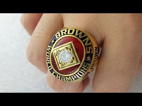 Cleveland Browns 1964 NFL Championship Rings-Jim Brown