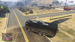 GTA 5 online test 001 dues in a half vs big truck and the nightshark