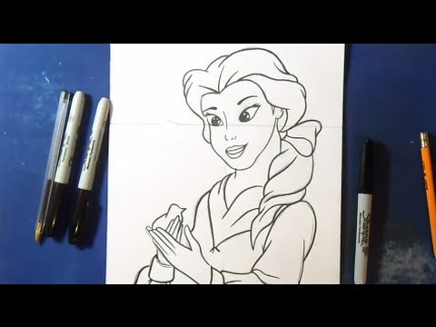 Comment dessiner render princesse disney youtube - Dessiner disney ...