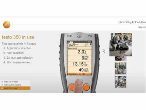 Testo 350 Industrial Flue Gas Analyser
