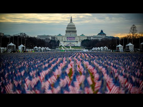 'Field of Flags' set up in Washington DC to replace inauguration audience