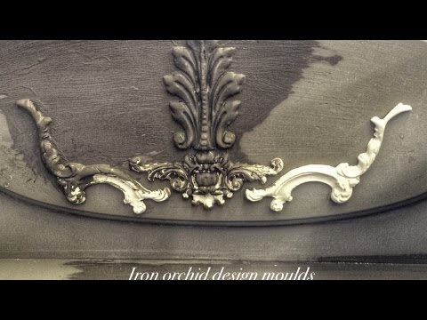 chalk clay paint withIOD mould detailing live DIY demo #ironorchiddesign#furnitureupcycle #diy