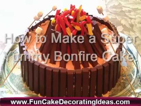 Campfire Cake How To Make A Bonfire Night Decorating Ideas