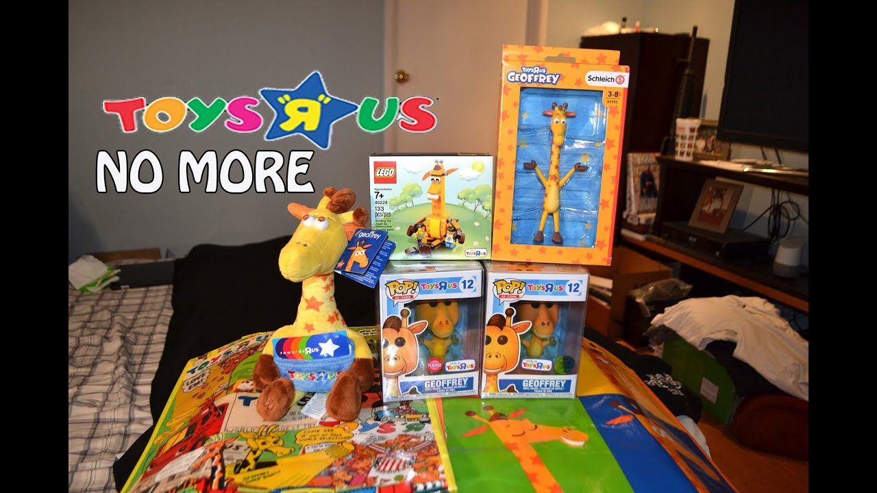 Toys R Us Closing And Geoffrey The Giraffe Collection Funko Schleich Lego Plush Etc Youtube