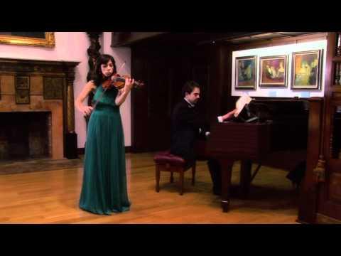Paula Martinez--Violin--Ravel's Tzigane--Museo Evaristo Valle, Gijon, Spain.