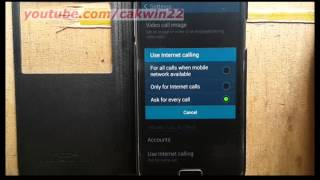 Samsung Galaxy S5 : How to change Use internet call option (Android Phone)