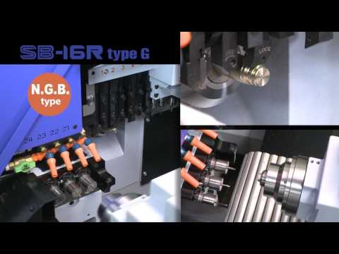 Star GB - SB-16R Type G CNC Sliding Head Lathe Demonstration