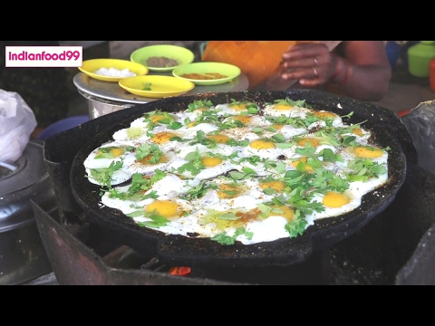 Queen Of Fried Eggs  - Amazing fried eggs prepared by Indian street food vendor