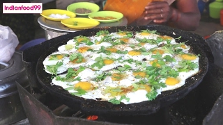 Queen Of Fried Eggs  - Amazing fried eggs prepared by Indian street food vendor thumbnail
