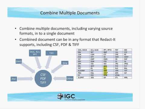 Redact It® Enterprise by IGC Protecting Privacy and Intellectual Property