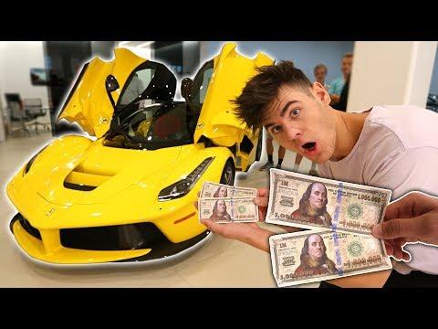 USING FAKE $2,000,000 TO BUY MY DREAM CAR! (Then This Happens) | David Vlas