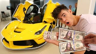 USING FAKE $2,000,000 TO BUY MY DREAM CAR! (Then This Happens) | David Vlas