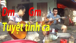 Tuyệt tình ca - Hòa tấu + lead guitar - Hùng râu and Thủy Kai (Kèm hợp âm trong phụ đề)