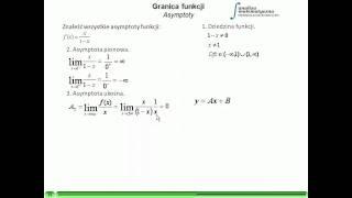 Granice Funkcji - Asymptoty Funkcji