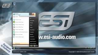esi usb audio interface driver installation under windows vista 7 8