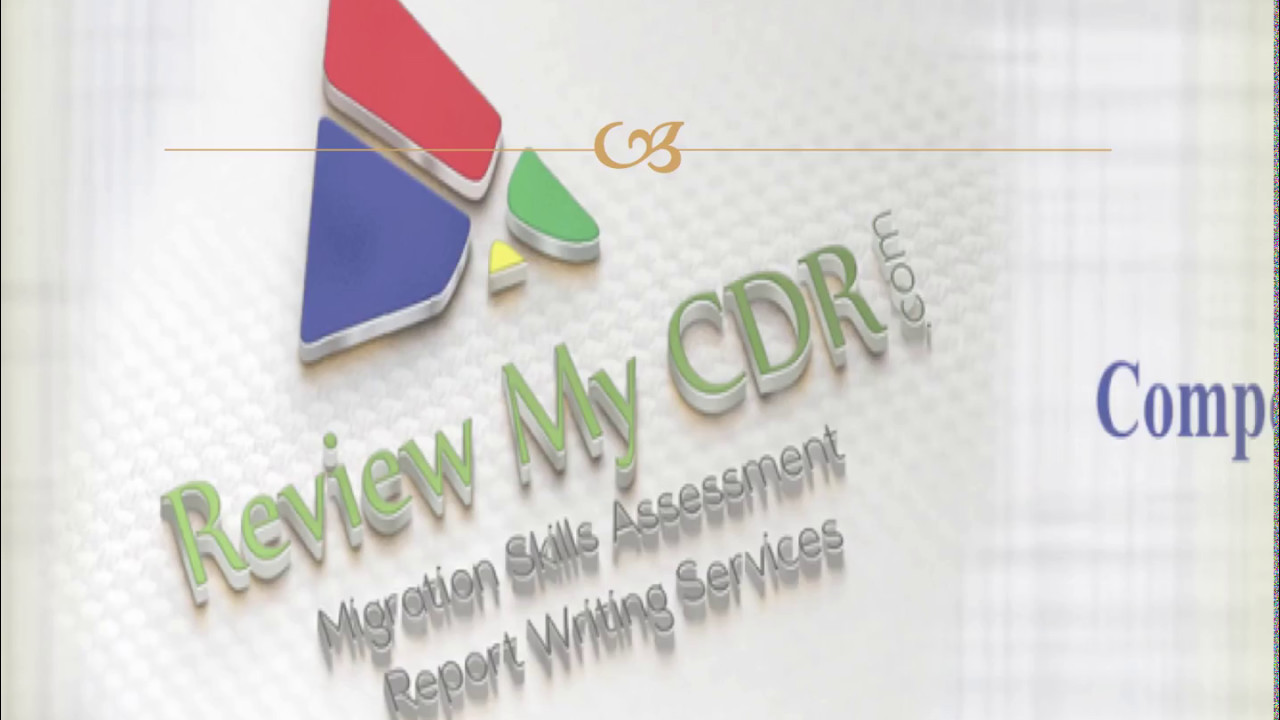 cdr writing for migration skill assessment for engineers