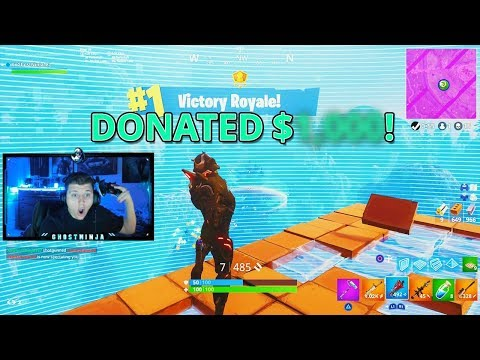 1 KILL = $100 DONATION from SUBSCRIBER in Fortnite: Battle Royale! (Fortnite Victory Royale)
