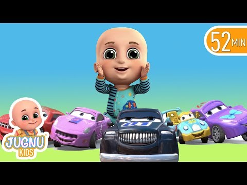 Car Videos | Racing Car Family | Nursery Rhymes Compilation from Jugnu Kids