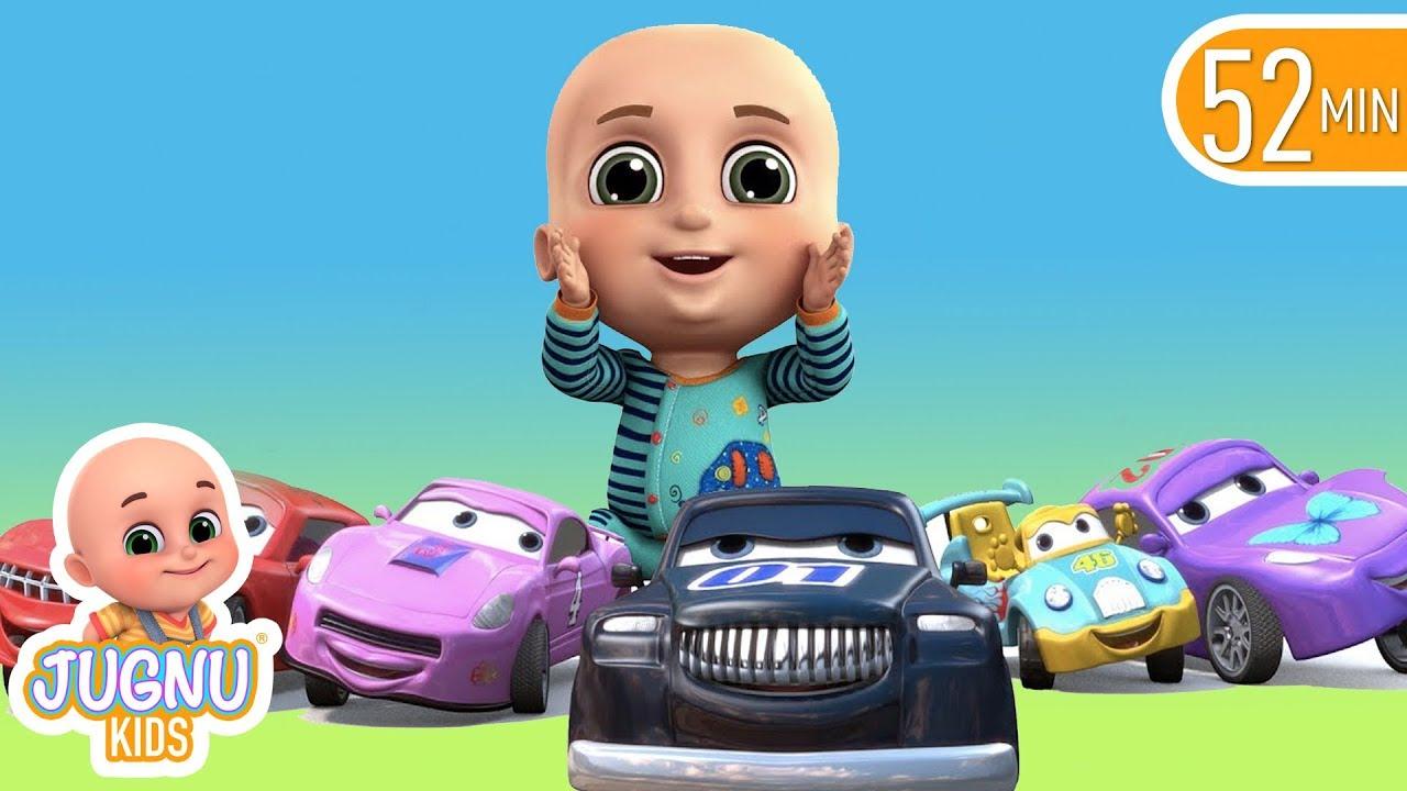 car videos racing car family | Babies Song | Jugnu kids ...