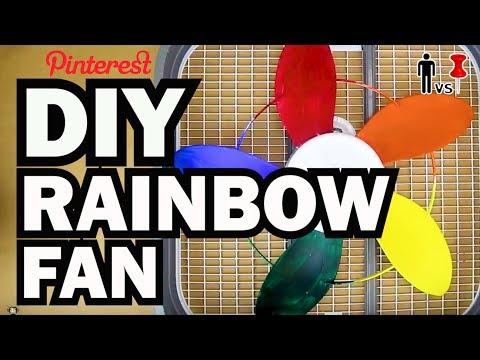 DIY Rainbow Fan - Man Vs Pin - Pinterest Test #63